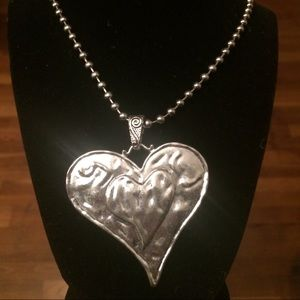 Jewelry - Hammered Metal Heart Necklace